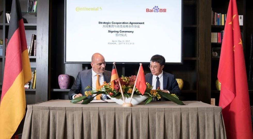 Baidu и континенталь  совместно  работают над беспилотником