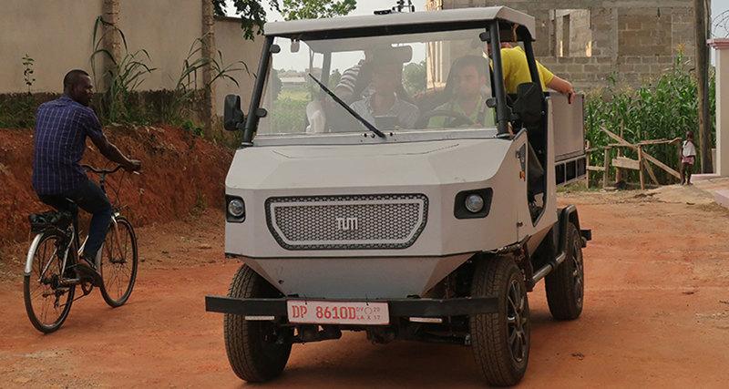Представлен электромобиль для сельских дорог Африки