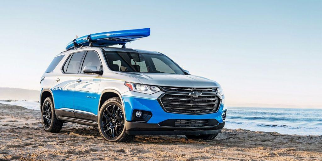 Представлен морской кроссовер Chevrolet Traverse SUP Concept