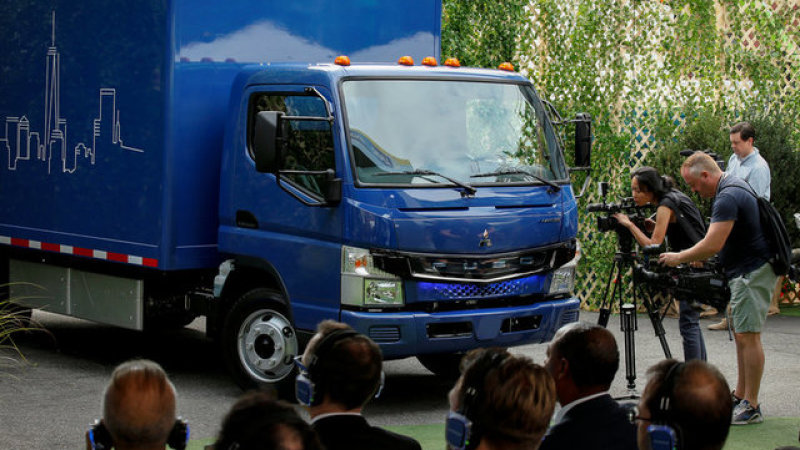 Daimler's electric short-haul city trucks are coming to the US