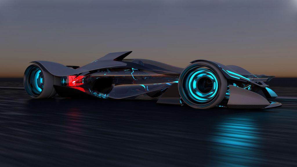 Компания Инфинити представила одноместный электрический спорткар