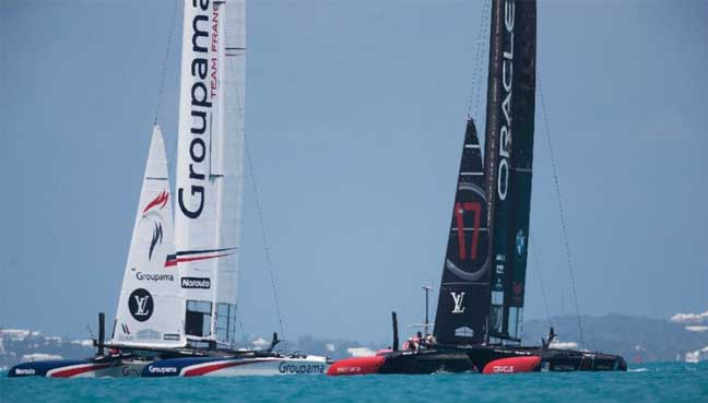 Ben Ainslie's GB crew dig deep to earn America's Cup play-off place