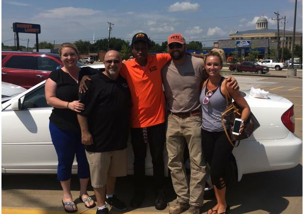 Strangers buy vehicle for Texas man who walked to work every day