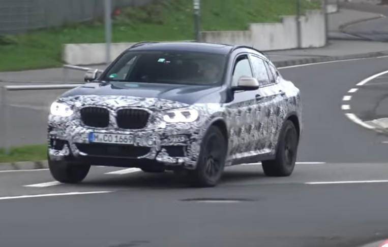 БМВ X4 2019 засняли впроцессе тест-драйва