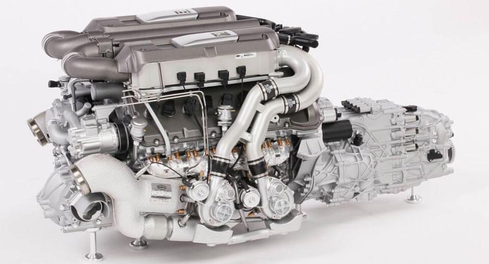 Уменьшенная копия мотора Бугатти Chiron оценена в9 365 долларов