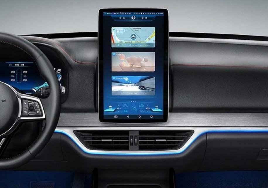 Нановый кроссовер BYD установили большой поворотный экран