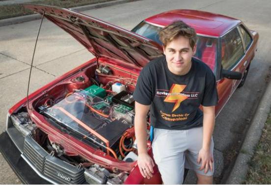 В США подросток собрал электромобиль из старой Toyota Celica
