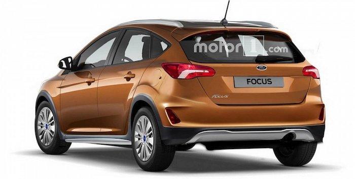Вглобальной паутине появились рендеры вседорожного универсала Форд Focus