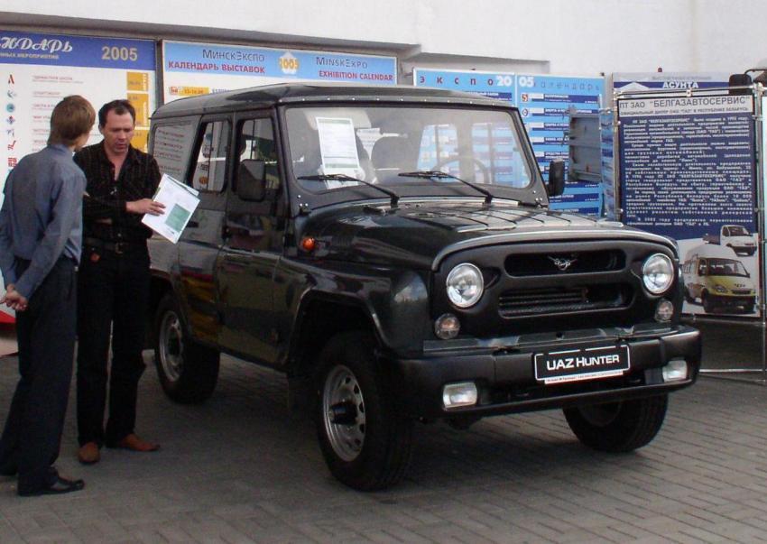 УАЗ впервом полугодии вдвое увеличил экспорт джипов
