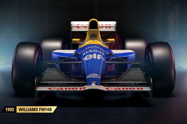 Ввидеоигре F1 2017 появятся классические болиды