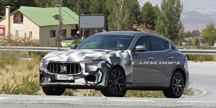 На тестирования вывели вседорожный автомобиль Мазерати Levante
