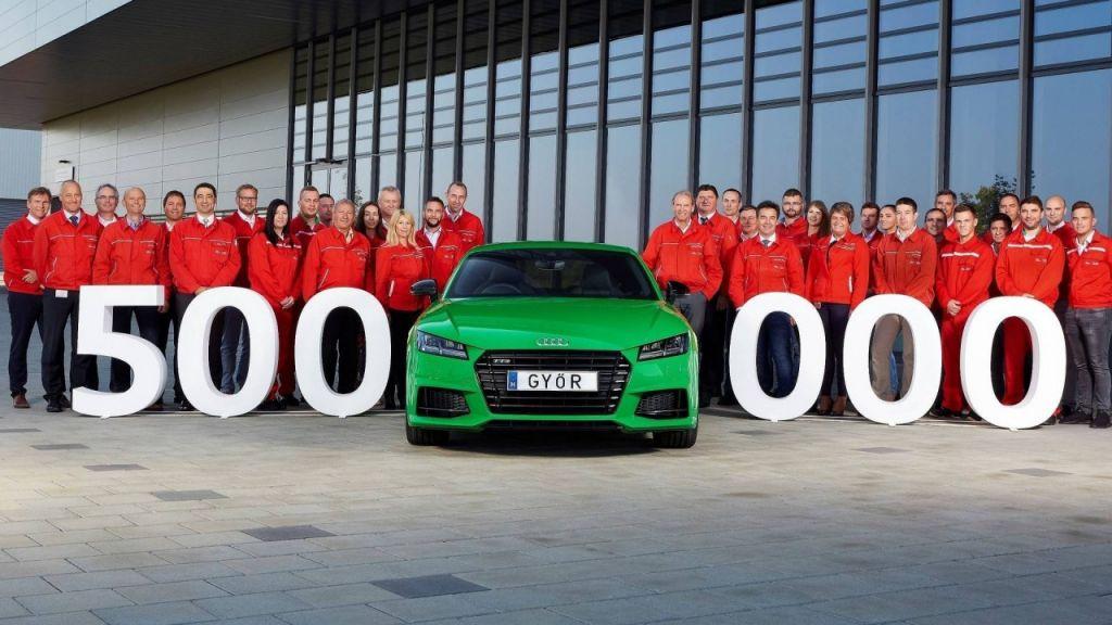 Венгерский завод Ауди выпустил 500-тысячный автомобиль