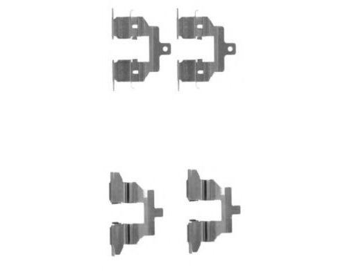 Пластина противоскрипная крепления тормозной колодки передней