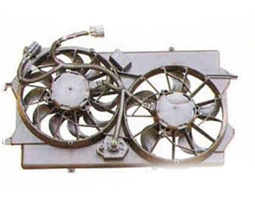 Дифузор радіатора охолодження, в зборі з двигуном і крильчаткою