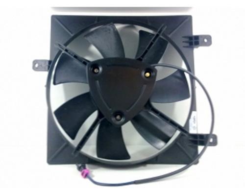 Диффузор радиатора кондиционера, в сборе с крыльчаткой и мотором