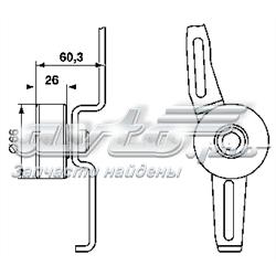 ролик натягувача приводного ременя  VKM33011