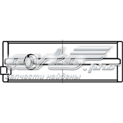 Фото: Вкладиші колінвала, корінні, комплект, 2-й ремонт (+0,50) Chevrolet Evanda