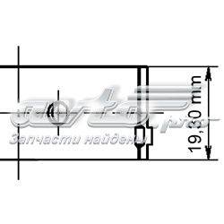 Фото: Вкладиші коленвала, шатунні, комплект, 4-й ремонт (+1,00) Daewoo Leganza