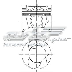 поршень (комплект на мотор), std  94597600