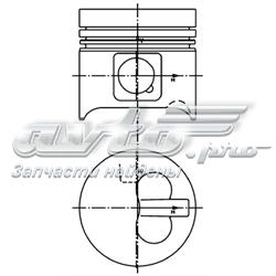 Поршень в комплекте на 1 цилиндр, 3-й ремонт (+0,60)