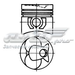 поршень в комплекте на 1 цилиндр, 3-й ремонт (+0,75)  93444630