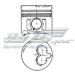 поршень в комплекте на 1 цилиндр, 3-й ремонт (+0,60)  94576730