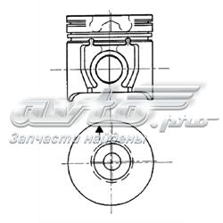 поршень в комплекте на 1 цилиндр, 3-й ремонт (+0,60)  94957610