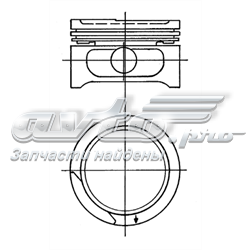 поршень в комплекте на 1 цилиндр, 3-й ремонт (+0,75)  90555630