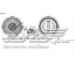 вискомуфта (вязкостная муфта) вентилятора охлаждения  VWC273