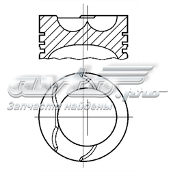 комплект поршневой (поршень + гильза)  A350499STD