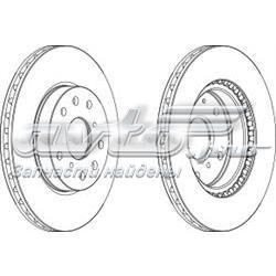 диск тормозной передний  WGR16201