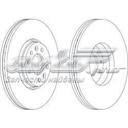 диск тормозной передний  WGR16151