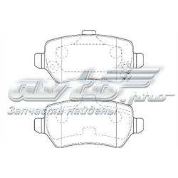 колодки тормозные задние дисковые  WBP23417A