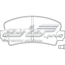 колодки тормозные задние дисковые  WBP20336A