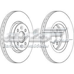диск тормозной передний  WGR11241
