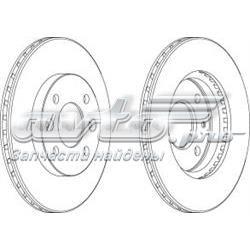 диск тормозной передний  WGR01581