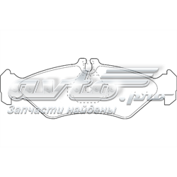 колодки тормозные задние дисковые  WBP21621A