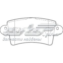 колодки тормозные задние дисковые  WBP23669A