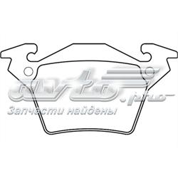 колодки тормозные задние дисковые  WBP23020A