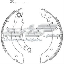 колодки тормозные задние барабанные  Z419901