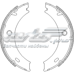 колодки ручника (стояночного тормоза)  Z471401