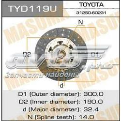 диск сцепления  TYD119U