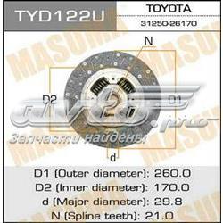диск сцепления  TYD122U