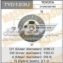 диск сцепления  TYD123U