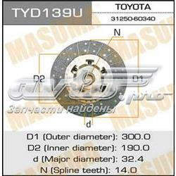 диск сцепления  TYD139U