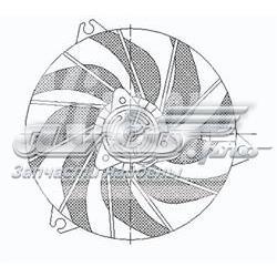 електровентилятор охолодження в зборі (двигун + крильчатка)  STPG262010