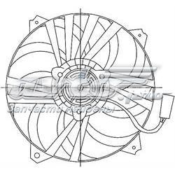 електровентилятор охолодження в зборі (двигун + крильчатка)  STPG372010