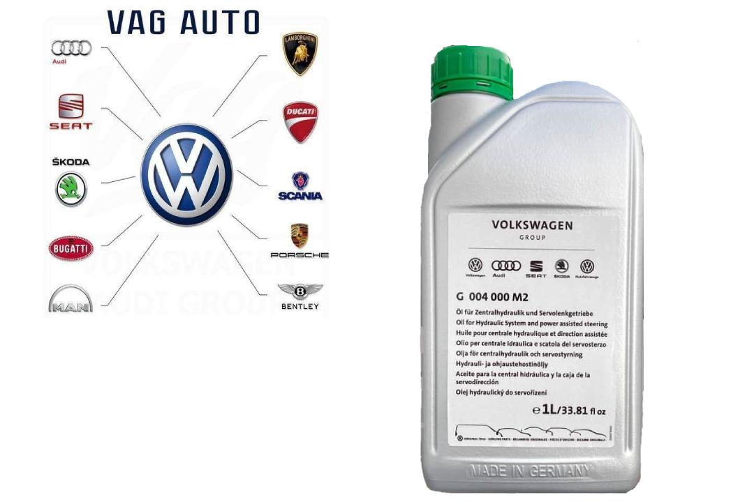 G004000M2 VAG гур жидкость (Зеленая, синтетическая, 1,0 л)