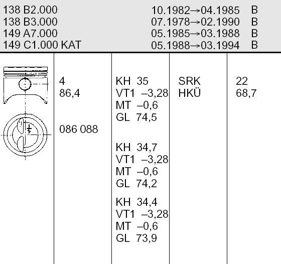 поршень для фиат 138a 1979 ujlf