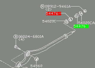 Сайлентблок нижнего переднего рычага  NISSAN E4476VC000